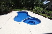 Mandalay Bay Fiberglass Pool and Spa in Hiltons, VA
