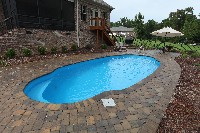 Pompano Beach Fiberglass Pool in North Wales, PA